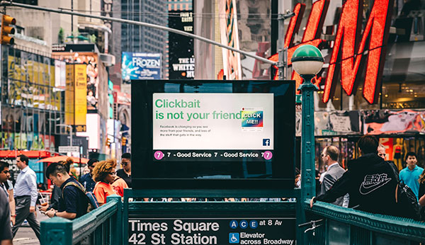 clickbait is not your friend ad