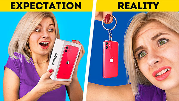 iPhone expectation vs. Reality
