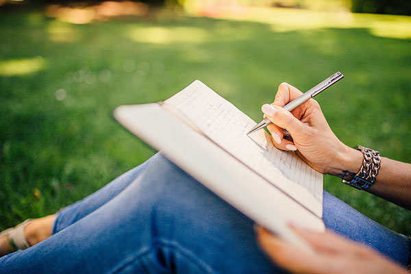 writing outdoor