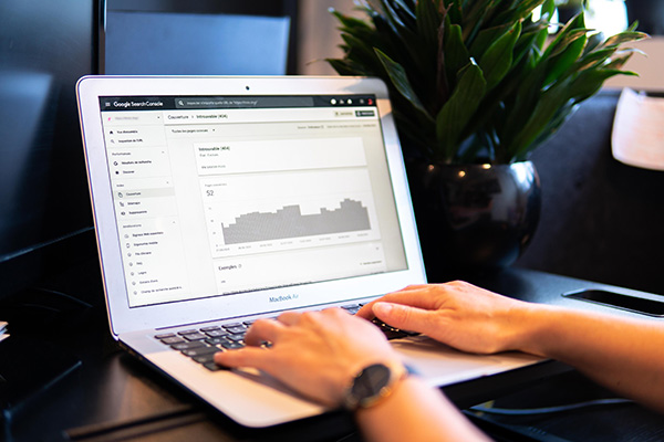 Google Search Console on laptop