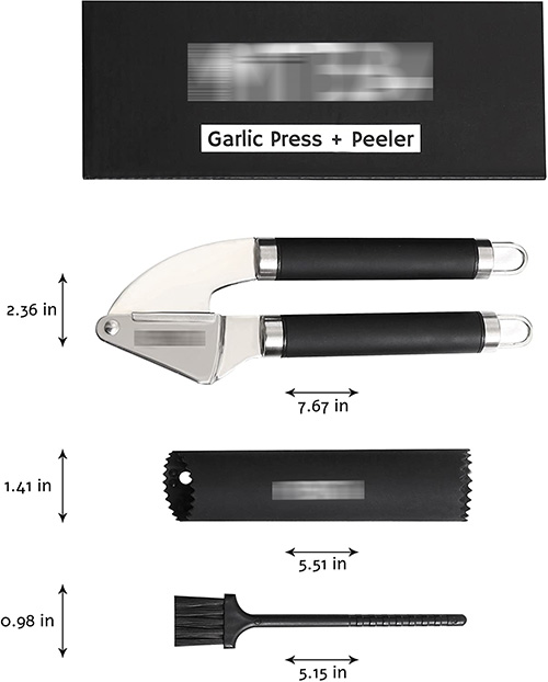 Product size and measurements