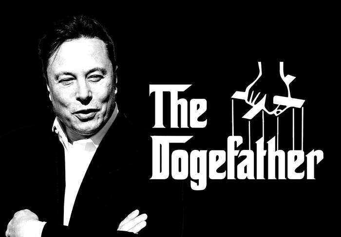Elon Musk The Dogefather and CEO of Dogecoin
